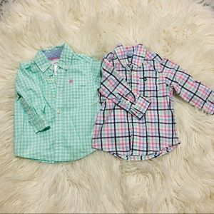 Two toddler long sleeve shirts